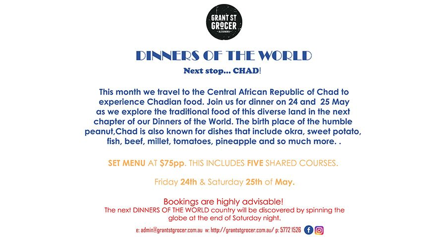 Dinners of the World – Chad!