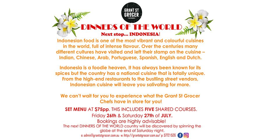 Dinners of the World – Indonesia!