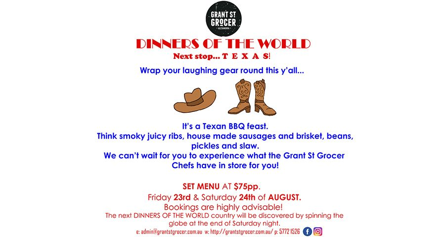 Dinners of the World – Texas!